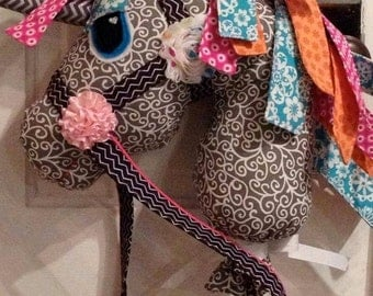 Hobby Horse - (Wooie or Woonicorn) - from the Whimsy Woo Pattern - Handmade Custom Horse Toy
