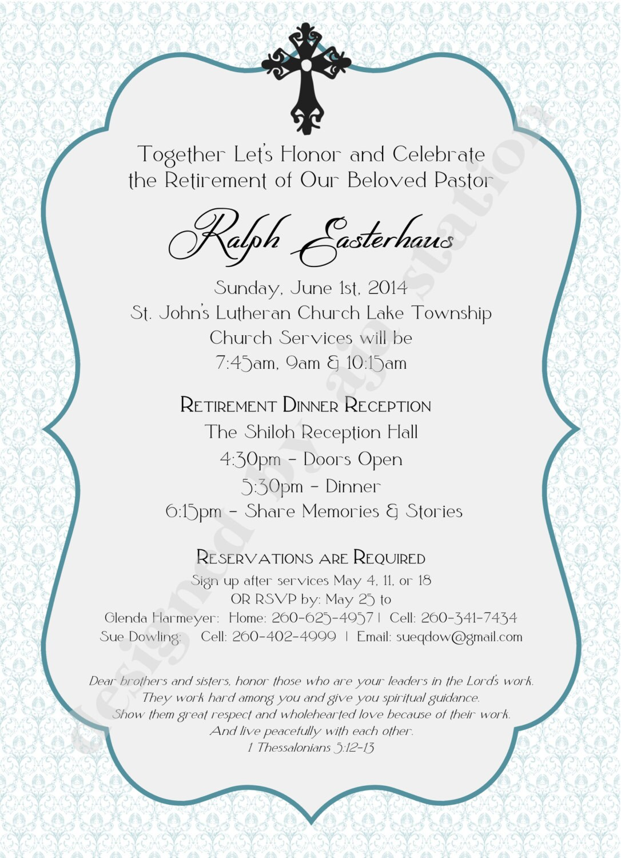 Retirement Party Invitation blue Personalized UPrint