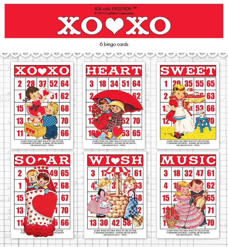 zoom - Valentine Bingo Cards