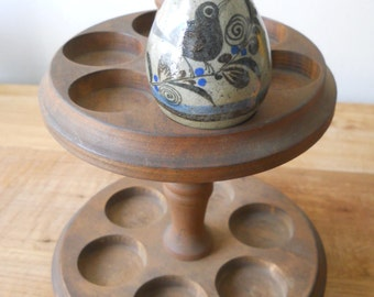 Vintage Signed Tonala Egg - Bird with Butterfly