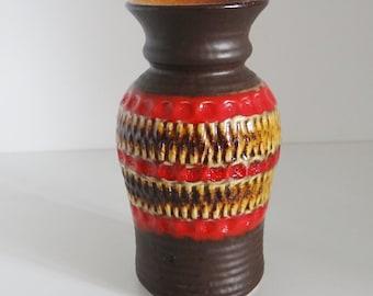 Vintage Vase Fat Lava Bay Pottery Vase West Germany Circa 1970's