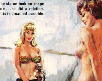 Lesbian Art Print: A Labor of Love Cover Art, Pulp Art, Paul Rader, Framed Print