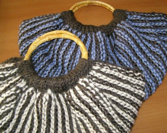 Crescent wool bag