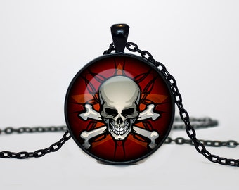 Halloween Skull necklace Skull pendant  Halloween jewelry Trick or Treat Halloween Pendant Halloween  multicolor rainbow