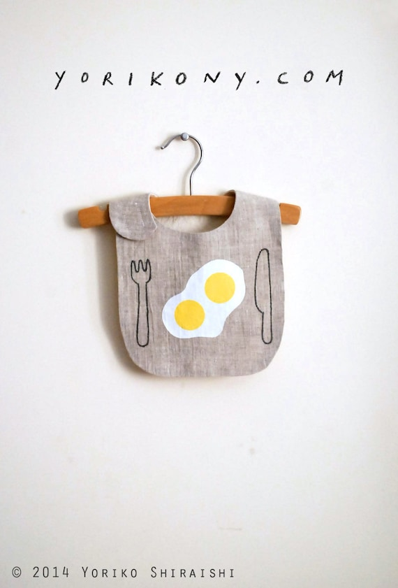 good morning bib | 2 eggs