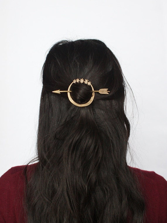 Hair Pins : Artemis hair pin by AlmanacForJune on Etsy
