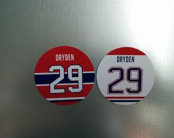 Ken Dryden Magnets - Montreal Canadiens Jersey Design - 2 magnet set -  #29