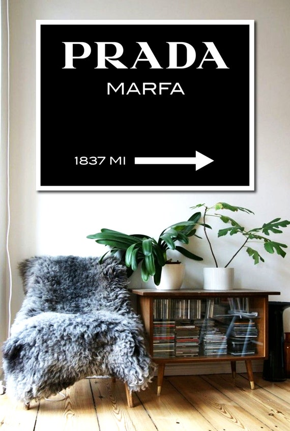 prada marfa poster printable file typography poster by dantell. Black Bedroom Furniture Sets. Home Design Ideas