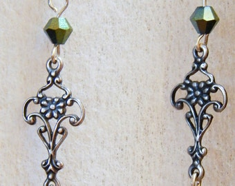 Silver Filigree Earrings #F5a