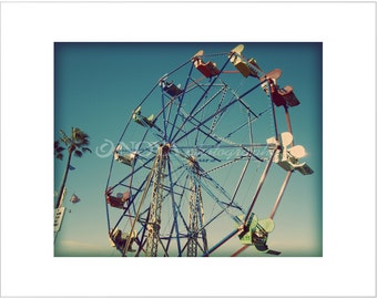 Color Photo, Ferris Wheel at The Balboa Fun Zone