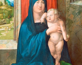 """Albrecht Durer : """"Madonna and Child"""" (c1496-1499) - Giclee Fine Art Print"""