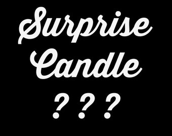 Surprise Soy Candle 8oz Clear Glass Soy Candle with Silver Lid - Handmade Candle - Mystery Candle - Surprise Soy Candle