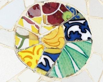 Gaudi, Barcelona, Gallery Art, Mosaic Tile,  Fine Art Photography,Wall Decor,Gallery wall prints,Modernisme style,Catalan art nouveau