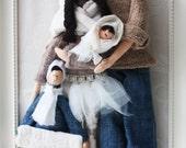 Tilda doll custom  portrait, Cozy winter, Handmade Kingdom by Valeria Olsson