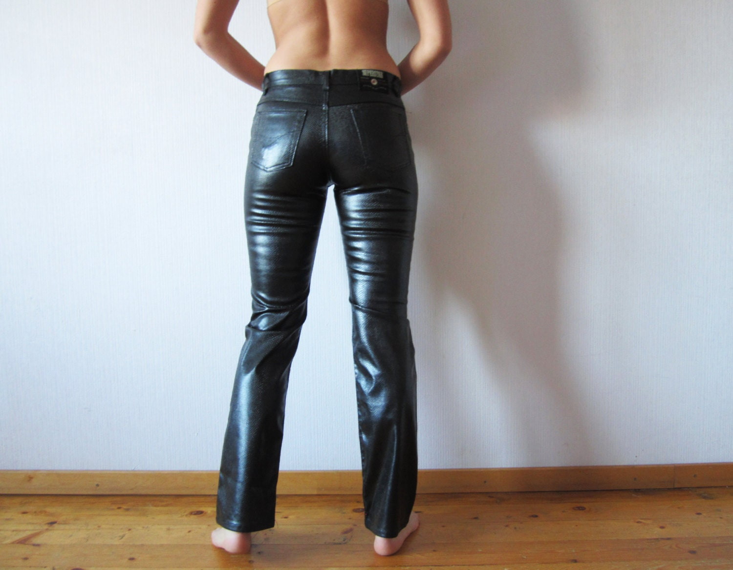 Cool Women39s Brand Genuine Leather Sheepskin Leather Pants Tight Leather