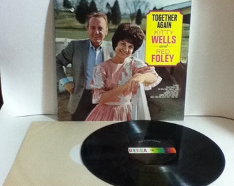 Kitty Wells and Red Foley Together Again Vintage Vinyl Record Album LP 1967 Decca Records DL 74906