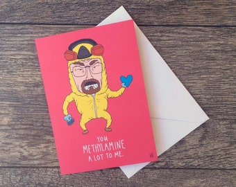 Breaking Bad Heisenberg Meth Valentine's Card