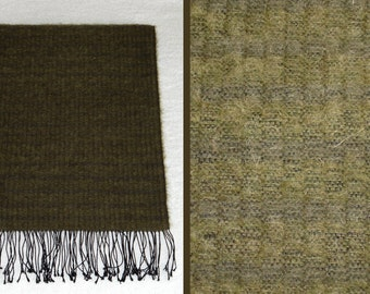 Handwoven Woolen Shawl. Moss Green Shawl. Warm Woolen Shawl. Soft Shawl.