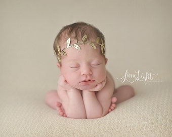 Gold headband, baby headband, newborn headbands, gold leaf headband, infant headband, headband baby, boho baby headband, READY TO SHIP