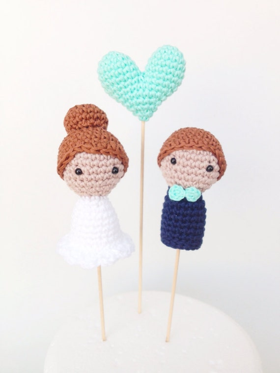 Knitted Wedding Cake Toppers Pattern