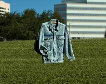 Perfectly 80s Acid Wash Denim Jacket