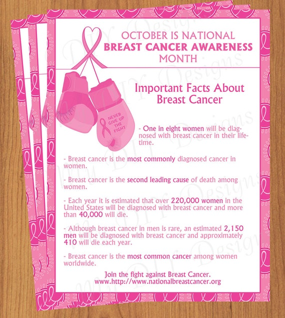 Breast cancer awareness flyer editable template microsoft for Free breast cancer brochure templates