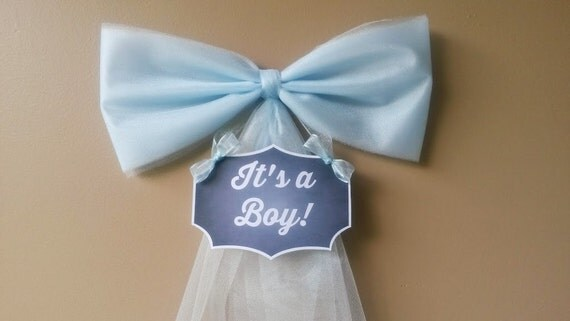 Boy baby shower decoration hospital door by darlingchicdesign for Baby boy door decoration