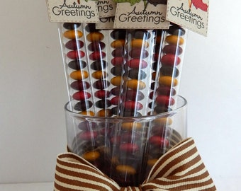Custom Made Autumn/Fall Candy Sticks