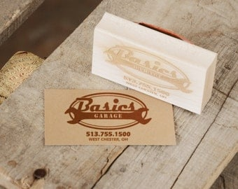 Business Card Sized Rubber Stamp