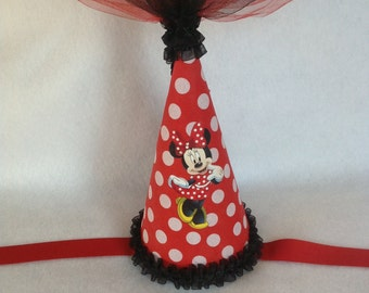Minnie Mouse Princess Inspired Birthday Party Hat (Free Personalization)