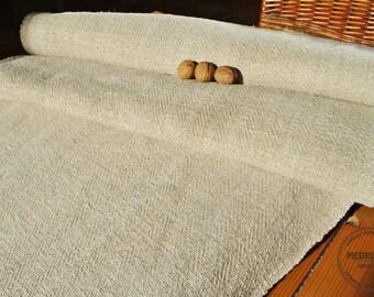 Homespun Linen Hemp Per 1Yard lenght- Antique European Grain Sack fabric- upholstery hemp fabric