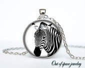 Zebra pendant Zebra necklace Zebra jewelry nature necklace