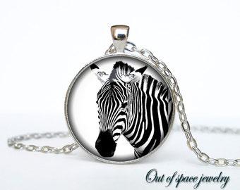 Zebra pendant Zebra necklace Zebra jewelry nature necklace