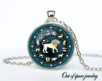 Leo Necklace, Leo Pendant Leo jewelry Zodiac Sign Pendant, Constellation Jewelry Art gift for men for women Golg
