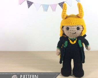 Loki Laufeyson Amigurumi Crochet Doll Pattern