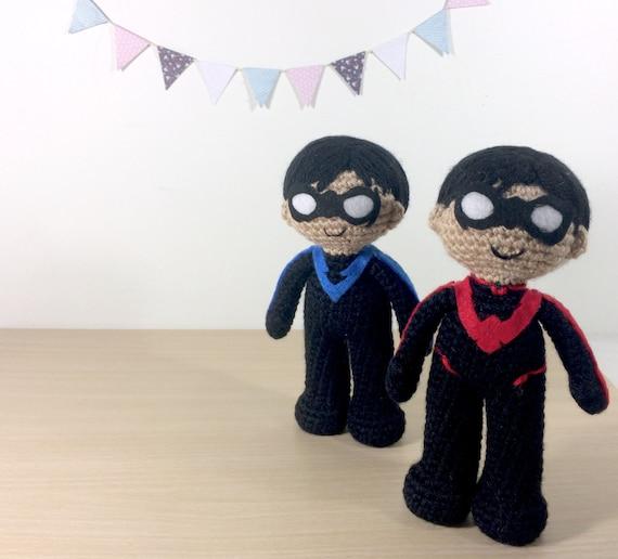 Nightwing Amigurumi Crochet Plush Doll