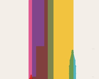 Shapes of Denver art print