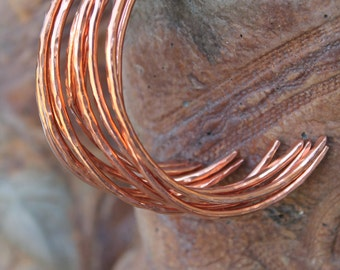 Copper Cuff Bracelet, Copper Bangle, Single Copper Bracelet