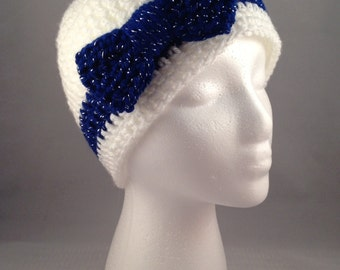 Women's Custom Beanie with Bow - You Pick the Colors