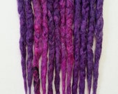 12 Purple and Pink Chunky Synthetic Dreads