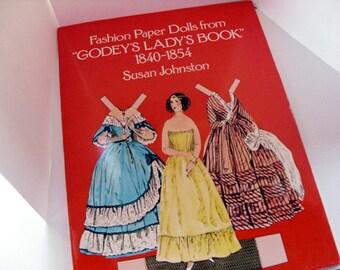 Fashion Paper Dolls - Godey's Lady's Book 1840-1854 by Susan Johnston, Civil War costumes, women's fashion, paper dolls book