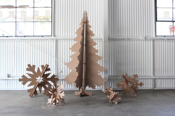6ft tall recycled cardboard christmas tree. Black Bedroom Furniture Sets. Home Design Ideas