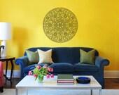 Mandala Wall Decal Namaste Flower Mandala Indian Lotus Yoga Wall Decals Vinyl Sticker Interior Home Decor Art Wall Decor Bedroom SV5884