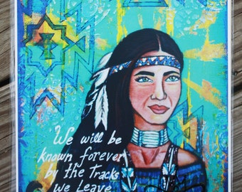 Art Print: Dakota - 11x14 - Native American Wall Art - Dakota Proverb - Southwestern Art - Inspirational Art Print - Native American Art