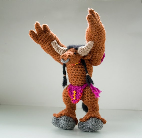 CROCHET PATTERN for World of Warcraft tauren doll / WoW ...