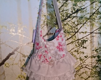 Romantic Ruffles Handbag/ Purse