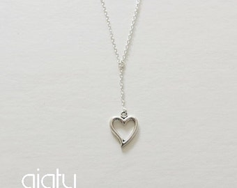 Silver Heart Necklace - Heart Necklace, Small Necklace, Everyday Necklace, Simple Necklace, Bff Necklace, Charm Necklace