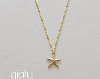 Starfish Necklace - Dainty Necklace, Thin Necklace, Small Necklace, Best Friend Necklace, Birdal Necklace, Bridesmaid Necklace
