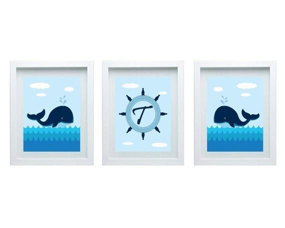 Https Www Etsy Com Listing 174825766 Boys Bathroom Decor Whale Wall Art