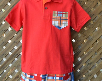 Madras Toddler Boys Shorts and Shirt Outfit